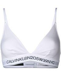 CALVIN KLEIN 205W39NYC Logo Bralet - White