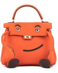 Hermès Sac à main Kelly Doll - Orange