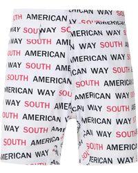 Amir Slama Bañador South American Way de fibra tactel - Blanco