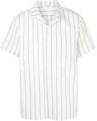 Alex Mill Striped Cotton-blend Shirt - White