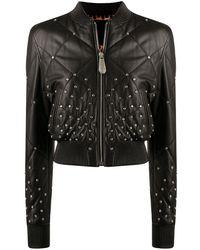Philipp Plein Куртка-бомбер С Кристаллами - Черный