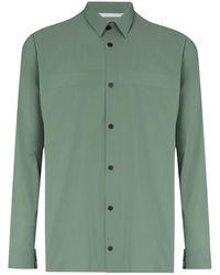GR10K ボタン テーラードシャツ - グリーン