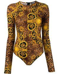 Versace Jeans Couture Боди С Принтом Baroque - Многоцветный