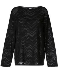 M Missoni - Zigzag Knit Jumper - Lyst