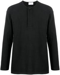 Ermenegildo Zegna ヘンリーネック ロングtシャツ - ブラック