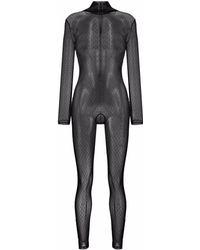 RED Valentino ポワンデスプリ ジャンプスーツ - ブラック