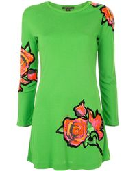 Louis Vuitton Платье С Длинными Рукавами И Принтом Pre-owned - Зеленый
