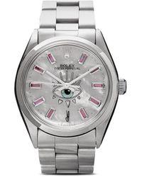 Jacquie Aiche リモデル Rolex Eye 腕時計 - メタリック
