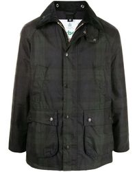 Barbour Sl Bedale チェック ウインドブレーカー - グリーン