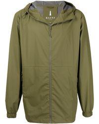 Rains Куртка На Молнии С Капюшоном - Зеленый