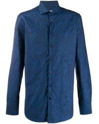 Etro Overhemd Met Paisley-print - Blauw