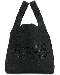Maison Margiela Shopper Met Logo - Zwart