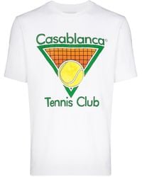 CASABLANCA Tennis Club Tシャツ - ホワイト