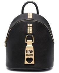 Love Moschino ロゴ バックパック - ブラック