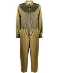 8pm Two-tone Press-stud Jumpsuit - Green