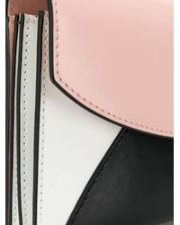 Plan C Colour-block Crossbody Bag - Pink