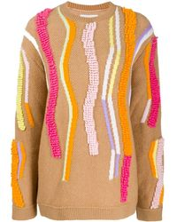 Peter Pilotto Textured-stripe Knitted Sweater - Multicolor