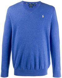 Polo Ralph Lauren Pullover mit V-Ausschnitt - Blau