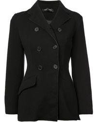 Proenza Schouler Bonded Jersey Double Breasted Blazer - Black