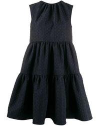 MSGM Платье Свободного Кроя - Черный