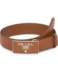 Prada レザーベルト - ブラウン