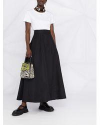 Pinko High-waisted Flared Skirt - Black