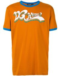 Dolce & Gabbana T-shirt Met Grafische Print - Oranje