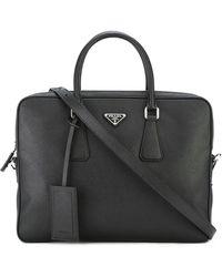 Prada Classic Briefcase - Black