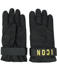 """DSquared² Handschuhe mit """"Icon""""-Print - Schwarz"""