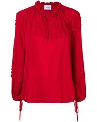 Dondup - Pintucked Trim Blouse - Lyst