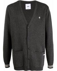 Vans Fine-knit Stripe-cuff Cardigan - Black