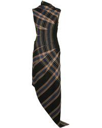 Monse チェック ドレス - ブラック