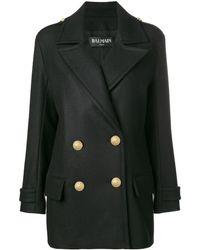 Balmain - Buttoned Military Jacket - Lyst