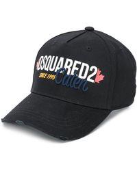 DSquared² Baseballkappe in Distressed-Optik - Schwarz