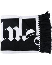 Palm Angels ジャカードロゴ スカーフ - ブラック