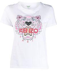 KENZO クラシックフィットジャージーtシャツ - ホワイト