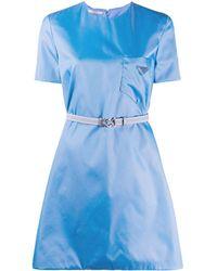 Prada Платье Со Съемным Поясом - Синий
