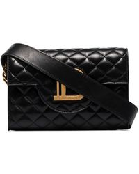 Balmain Sac porté épaule B-Envelope à design matelassé - Noir