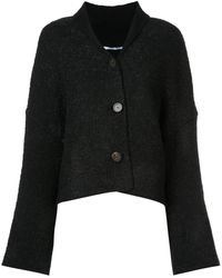 Rosetta Getty Long-sleeve Flared Cardigan - ブラック