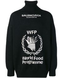 Balenciaga - World Food Programme Turtleneck Sweater - Lyst