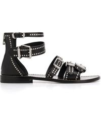 Zadig & Voltaire Studded Strappy Sandals - Black
