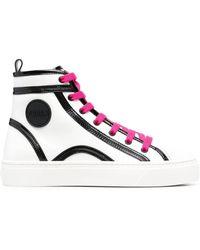 Furla Two-tone High-top Sneakers - White