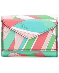 Emilio Pucci - Shell Print Mini Trifold Wallet - Lyst