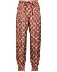 Gucci GG Supreme Track Trousers - Red