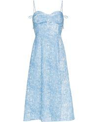 Reformation Robe mi-longue Nebraska - Bleu