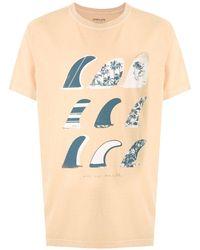 Osklen Camiseta Stone Quilhas estampada - Amarillo