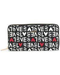 Liu Jo - Monogram Heart Print Wallet - Lyst