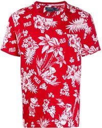 Polo Ralph Lauren Hawaiian Tシャツ - レッド