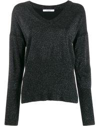 10 Crosby Derek Lam Twilight Wool Cashmere Wooster V-neck Sweater - Black