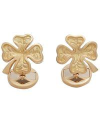 Dolce & Gabbana Запонки Good Luck Из Желтого Золота С Рубинами - Металлик